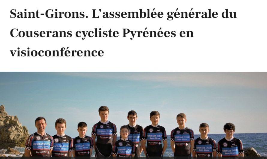 L'AG 2020 du Couserans Cycliste en viso